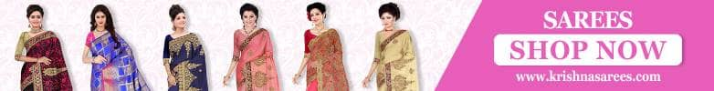 Krishna Sarees Sarees With Stitched Blouse
