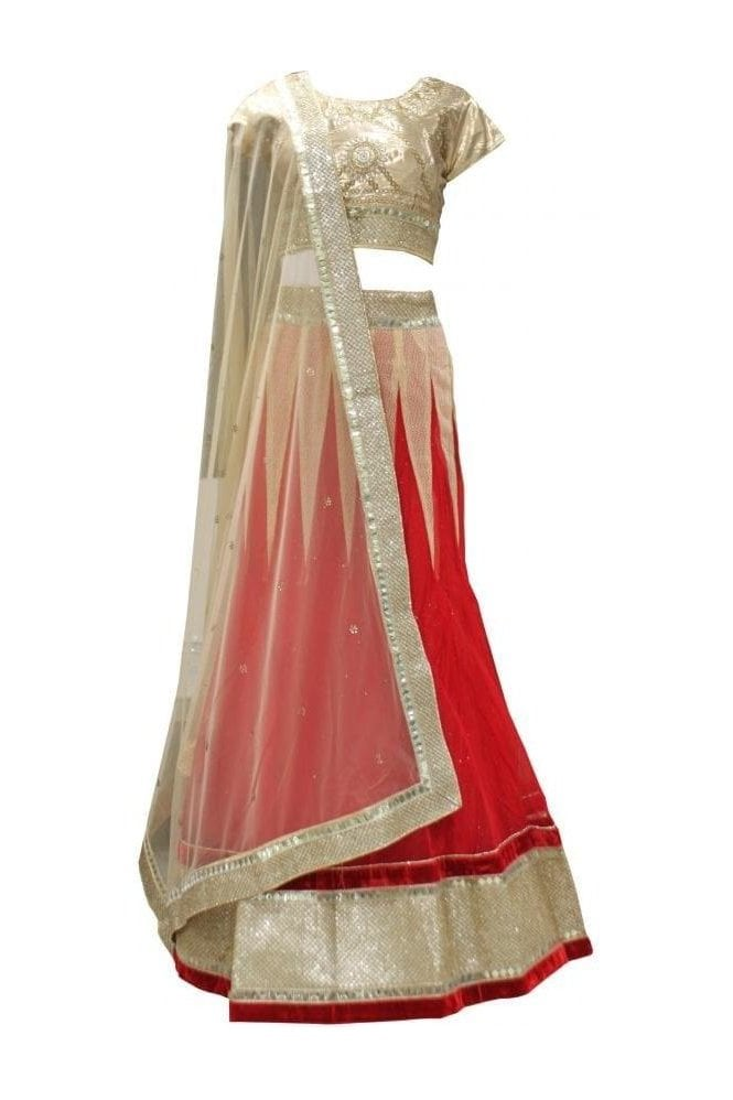 Krishna Sarees DLC19062 Gorgeous  Red and Gold Designer Lengha
