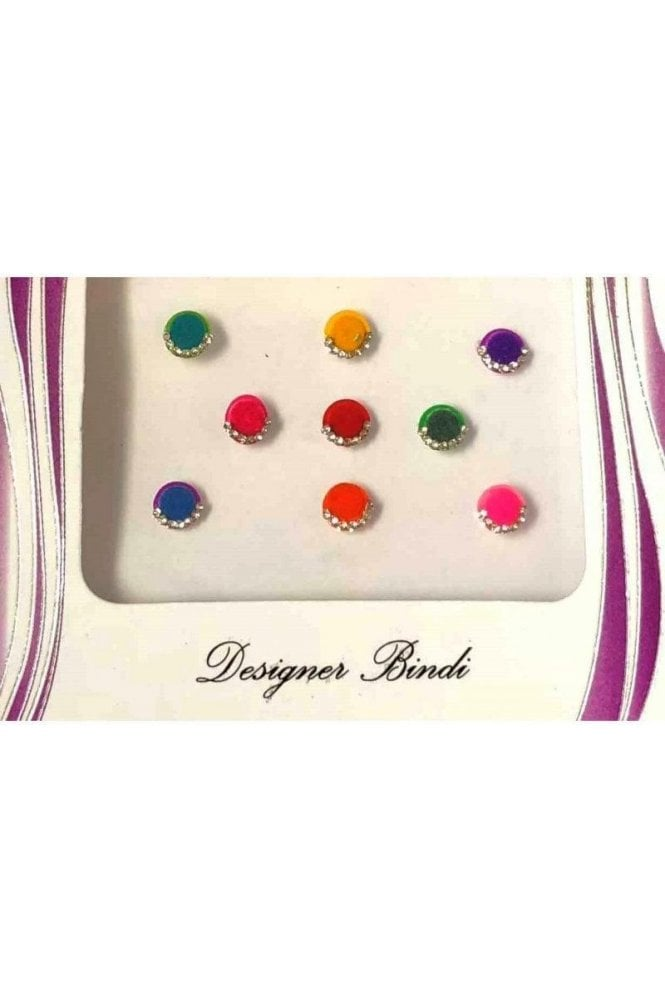 BIN524: Designer Pack of Multicoloured and Stone Bindi's / Tattoos