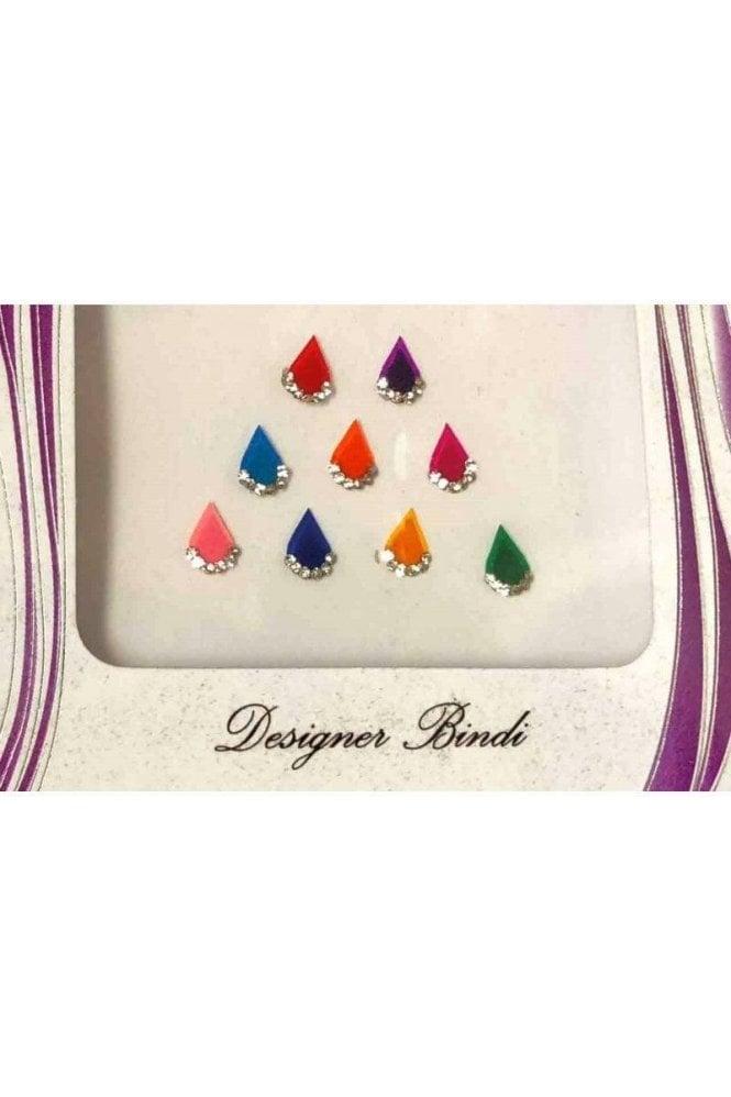 BIN526: Designer Pack of Multicoloured and Stone Bindi's / Tattoos