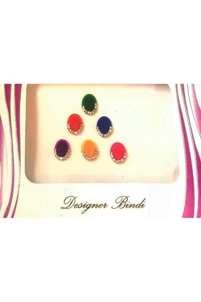 BIN529: Designer Pack of Multicoloured and Stone Bindi's / Tattoos
