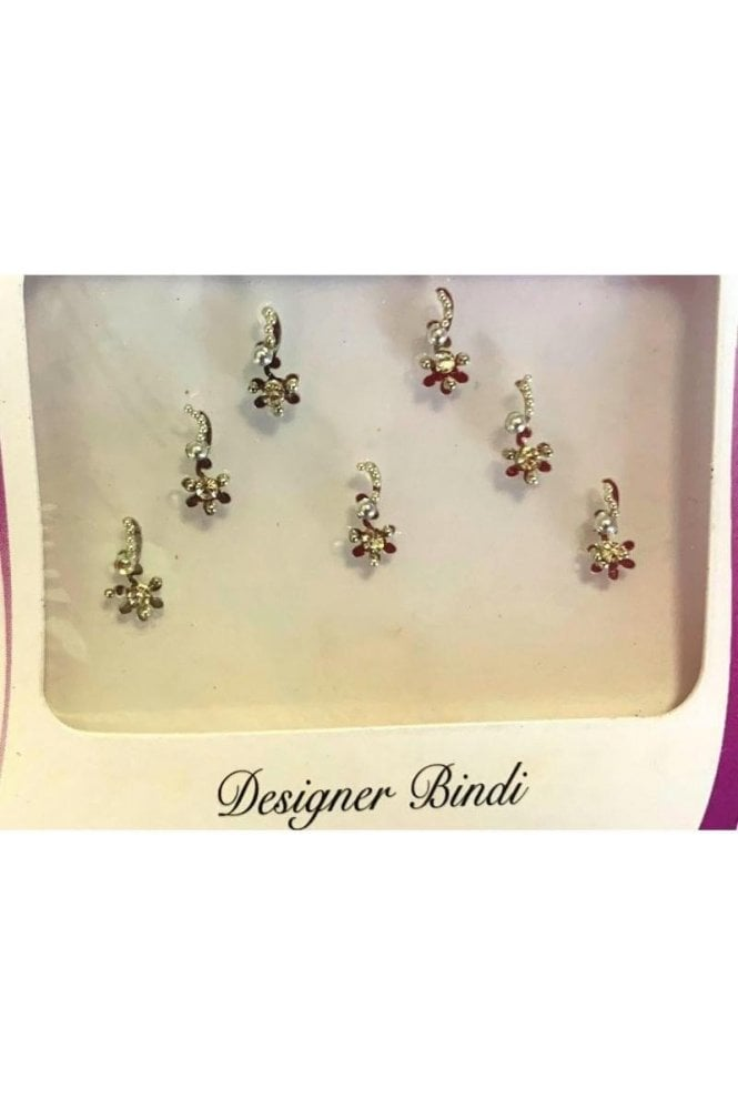 BIN891: Designer Pack of Silver and Stone, Bead and Thread Bindi's / Tattoos