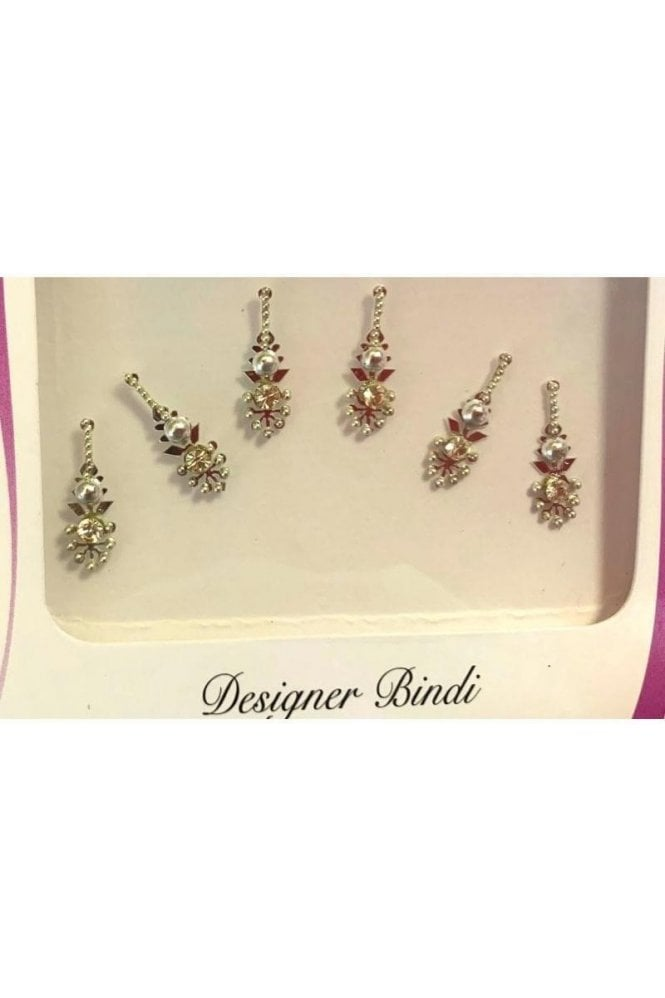 BIN901: Designer Pack of Silver and Stone, Bead and Thread Bindi's / Tattoos