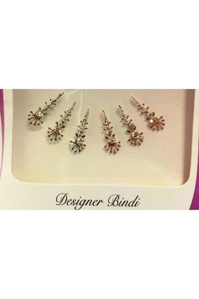 BIN902: Designer Pack of Silver and Stone, Bead and Thread Bindi's / Tattoos