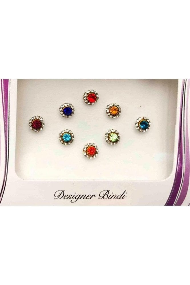 BIN616: Designer Pack of Multicoloured and Stone Bindi's / Tattoos