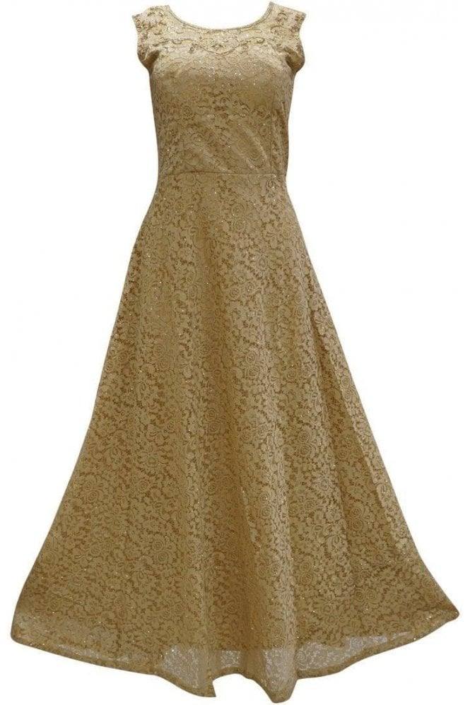 WPD19068 Gold and Gold Designer Churidar Suit Gown
