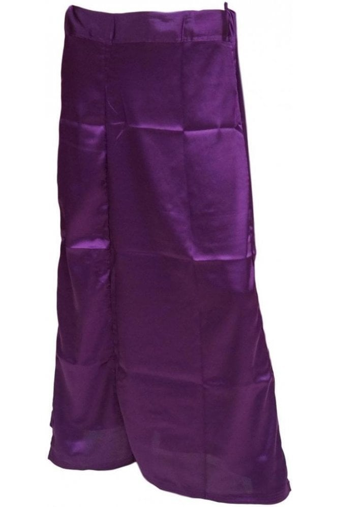 SPC20012 Purple Poly Satin Saree Sari Petticoat / Underskirt