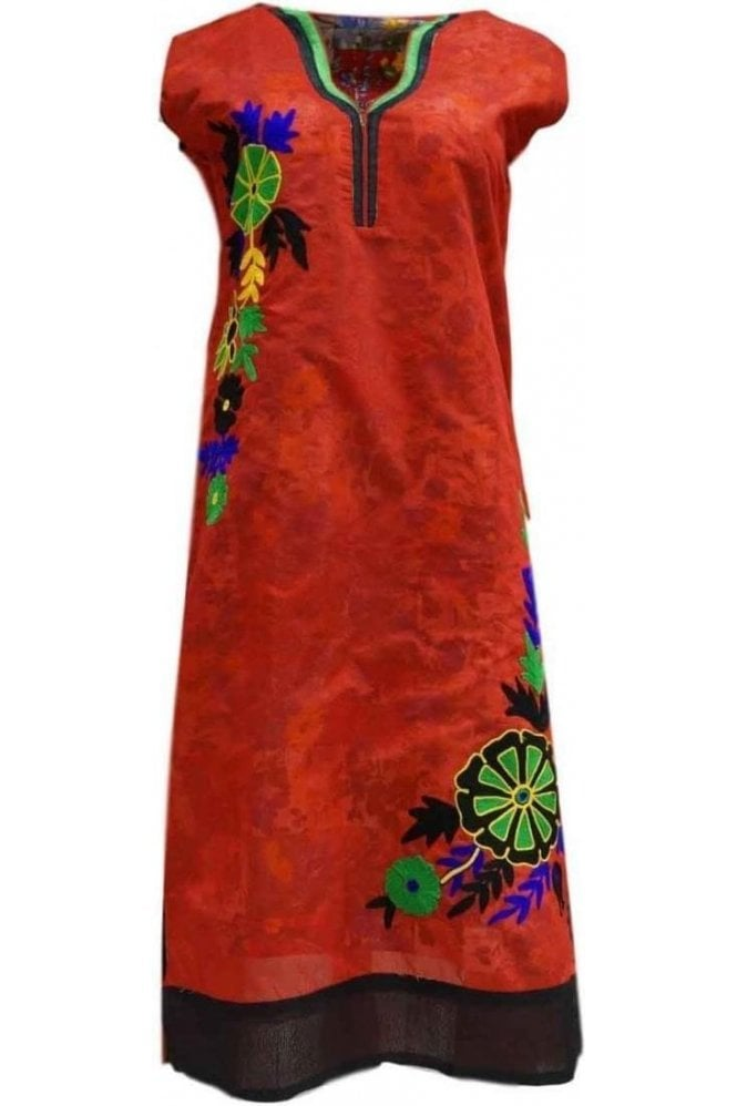 KUR19060 Gorgeous Red and Red Gorgeous  Designer Kurti Tunic Top Dress
