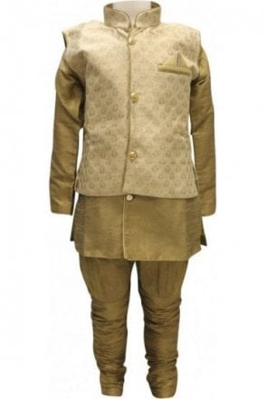 BYK18035BYK2563 Beige and Bronze 4 Piece Kurta Pyjama
