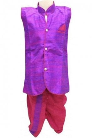 BYK18042BYK2574 Purple and Pink Boy's Dhoti Pyjama