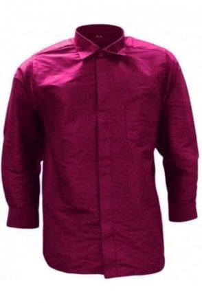 MPS19001 Pink Men's Pattu Shirt, Poly Silk Shirt