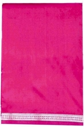 VST2008 Pink Men's Traditional Veshti / Dhoti / Vasti with Angavastram