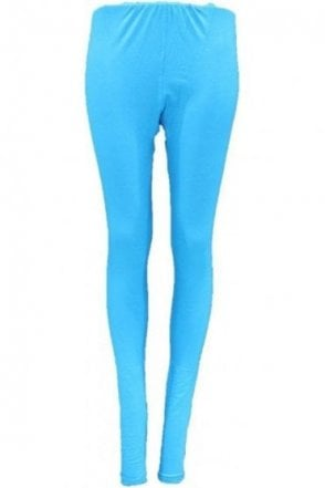 LEG19002 Blue Ready Made Stretchable Leggings