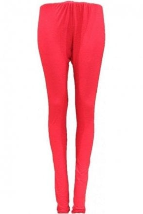 LEG19004 Red Ready Made Stretchable Leggings