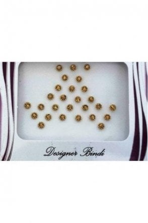 BIN245: Designer Pack of Gold and Stone Bindi's / Tattoos