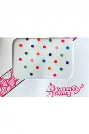 BIN504: Designer Pack of Multicoloured and Plain Dot Bindi's / Tattoos