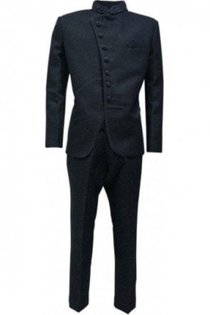 MJS19002 Black Men's Jodhpuri Suit