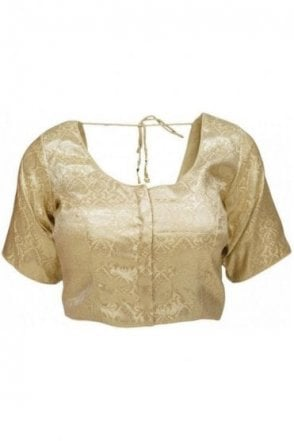 RMB20003 Gold and Antique Gold Ready Made Designer Saree Blouse