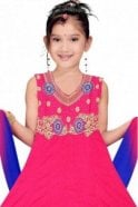 GCS19307 Pink and Blue Girl's Churidar Suit