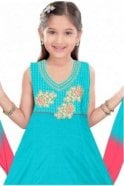 GCS19313 Jade Green and Red Girl's Churidar Suit