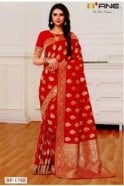 BEN19004-178E Red and Gold Benarasi Art Silk Saree