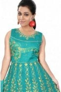 WCS19344 Jade Green and Gold Designer Churidar Salwar Kameez