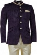 MJS19023 Purple and Beige Men's Jodhpuri Suit