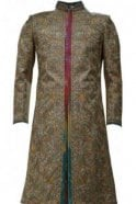 MTS19058 Gold, Pink and Cream Men's Sherwani Suit