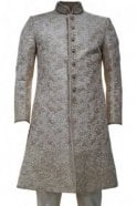 MTS19059 Gold and Cream Men's Sherwani Suit