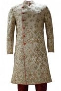MTS19097 Gold and Red Men's Sherwani Suit
