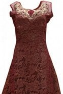 WPD19079 Maroon and Gold Designer Churidar Suit Gown