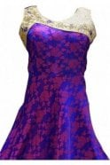 WPD19173 Purple and Pink Designer Churidar Suit Gown