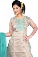 WCS19416 Jade Green and Grey Designer Churidar Salwar Kameez