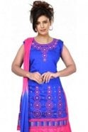 WCS19474 Blue and Pink Designer Churidar Salwar Kameez