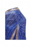 Elegant Blue and Gold Bandhani Silk / Geogette Party Saree