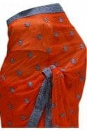 Krishna Sarees DES20172 Gorgeous Red & Silver Party Saree