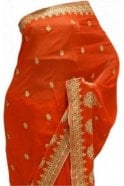 Krishna Sarees DES20184 Stylish Red & Gold Party Saree