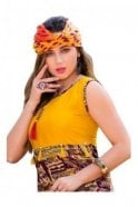 KUR19004 Exquisite Yellow and Burgundy Exquisite Designer Kurti Tunic Dress