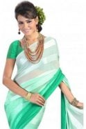 Krishna Sarees PPS20008 Green Satin Georgette Plain Shaded Party Saree