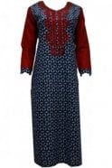 KUR20032 Elegant Blue and Red  Kurti Tunic Top Dress