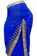 Krishna Sarees DES20308 Pleasing Blue & Gold Party Saree