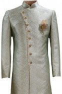 MTS20315 Green and Gold Brocade Men's Sherwani Suit