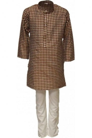 BYK18022BYK2538 Brick Red and Ivory Boy's Kurta Pyjama