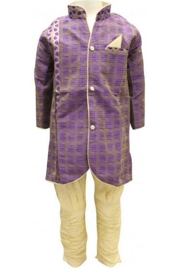 BYK18043BYK2576 Purple and Gold Boy's Dhoti Pyjama