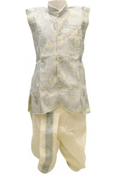 BYK18046BYK2580 Sky Blue  and Ivory Boy's Dhoti Pyjama