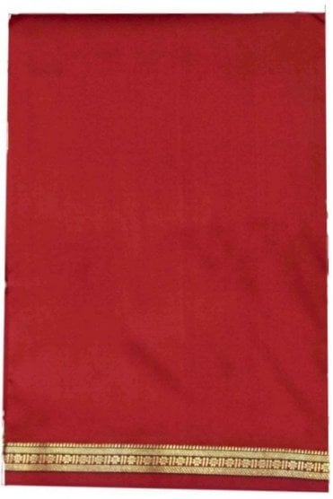 VST2006 Maroon Men's Traditional Veshti / Dhoti / Vasti with Angavastram