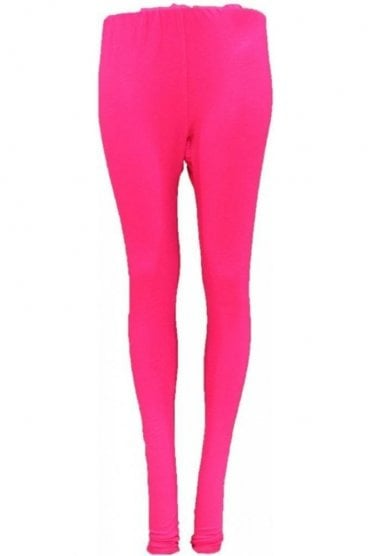 LEG19007 Hot Pink Ready Made Stretchable Leggings