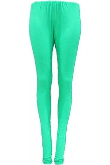 LEG19012 Green Ready Made Stretchable Leggings