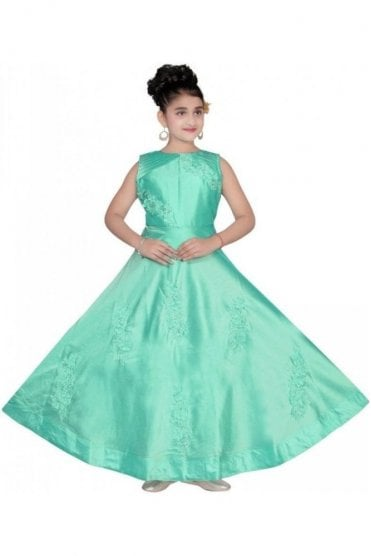 GCS19536 Sky Blue & Pearl Girl's Churidar Suit