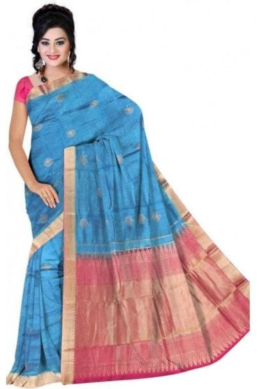 APS19290 Blue and Purple Fancy Art Silk Party Saree